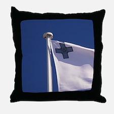 Christian Maltese flag Malta, Vallett Throw Pillow