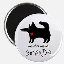 dog no background black Magnet