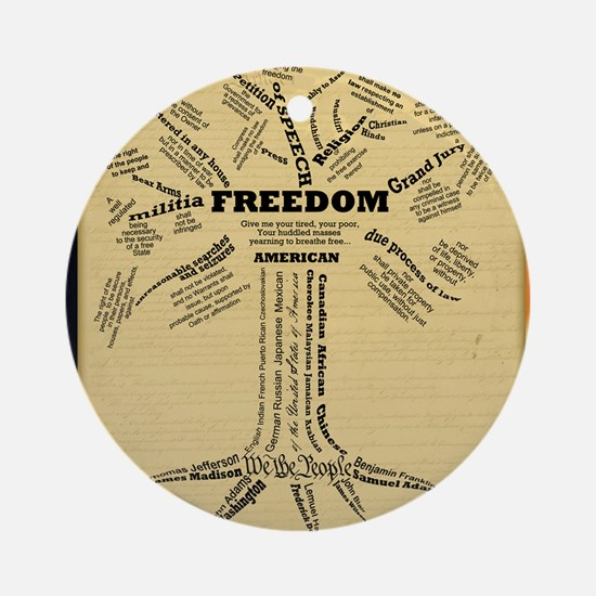 FreedomTree_9x12 Round Ornament