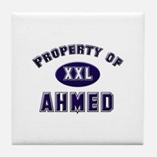 Property of ahmed Tile Coaster