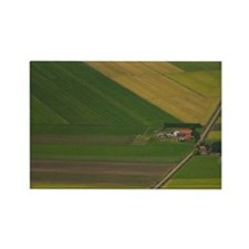 Farms Outside of Amsterdam, Holla Rectangle Magnet
