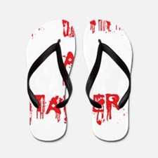 I want a stalker-blood white background Flip Flops