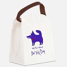 dog notebook design Blue copy Canvas Lunch Bag