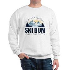 ski bum u wht Sweatshirt