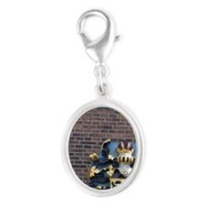 Royal Crest with Austrian doubl Silver Oval Charm