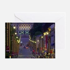 Oslo. Kari Johans Gate in evening lo Greeting Card
