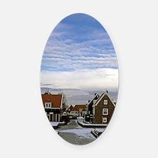Europe, The Netherlands. Zaanse Sc Oval Car Magnet