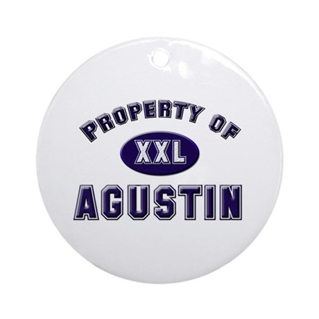 Property of agustin Ornament (Round)