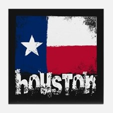 Houston Grunge Flag Tile Coaster