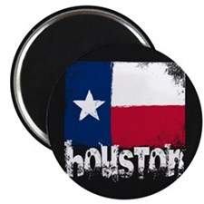Houston Grunge Flag Magnet