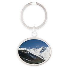 COLLE DEL GRAN SAN BERNARDO: View of Oval Keychain
