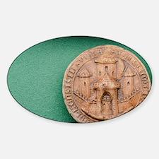 Stockholm c. 1351. UNESCO Museum. H Sticker (Oval)