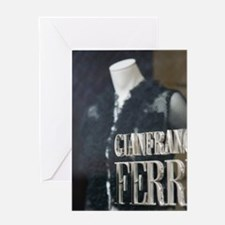 CAPRI: Gianfranco Ferre Store window Greeting Card