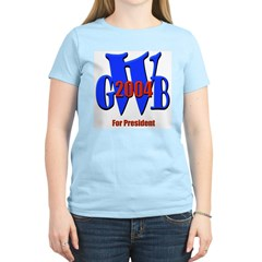 George Bush for President Women's Pink T-Shirt