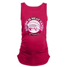 Meat Candy On White Black Burst Maternity Tank Top