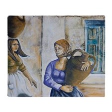 Italy, Sardinia, Irgoli. Wall mural. Throw Blanket