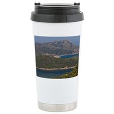 Capo Malfatano. Coast view towa Travel Mug
