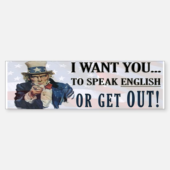 Speak English Bumper Bumper Bumper Sticker