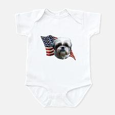 Shih Tzu Flag Infant Bodysuit