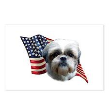 Shih Tzu Flag Postcards (Package of 8)