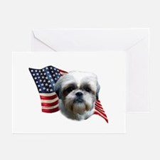Shih Tzu Flag Greeting Cards (Pk of 10)