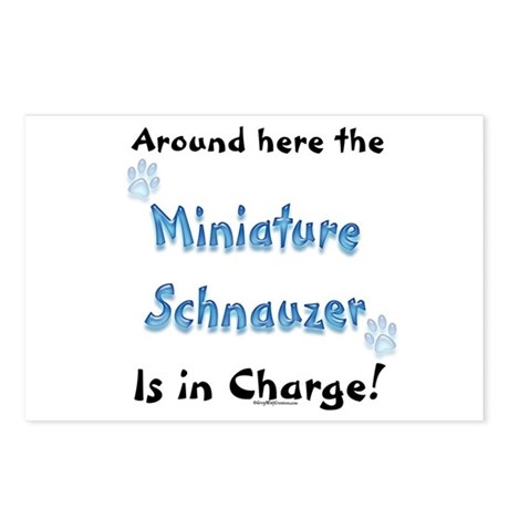 Schnauzer Charge Postcards (Package of 8)