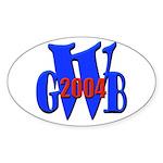 GWB in 2004 Oval Sticker