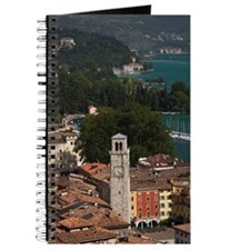 Aerial town view with the Torre Apponale,  Journal
