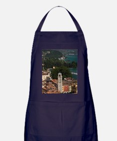 Aerial town view with the Torre Appon Apron (dark)