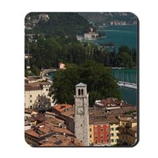 Aerial town view with the Torre Apponale Mousepad