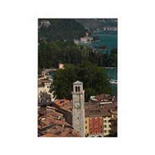 Aerial town view with the Torre A Rectangle Magnet