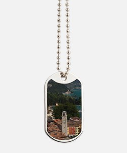 Aerial town view with the Torre Apponale, Dog Tags