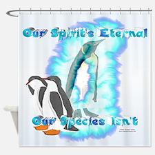 Penguin Spirit Shower Curtain