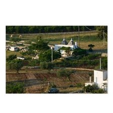 Farm View with Trulli Hou Postcards (Package of 8)