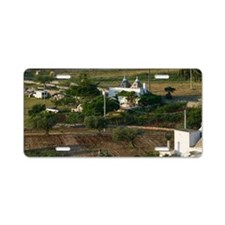 Farm View with Trulli House Aluminum License Plate