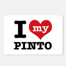 i love my Pinto Postcards (Package of 8)