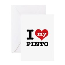 i love my Pinto Greeting Card