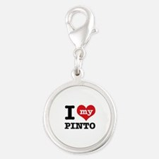 i love my Pinto Silver Round Charm