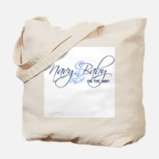 Navy Baby on the way! Tote Bag