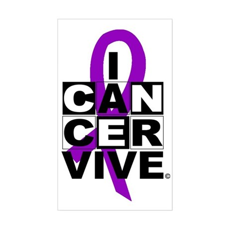 Pancreatic Cancer Rectangle Sticker