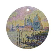 Venice by Signac Round Ornament