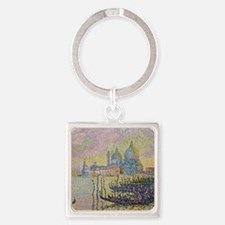 Venice by Signac Square Keychain