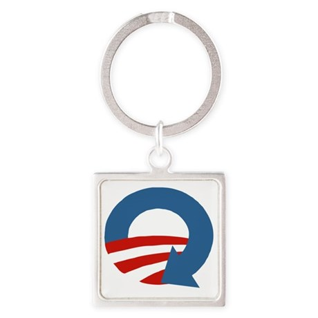 Obama_recycle Square Keychain