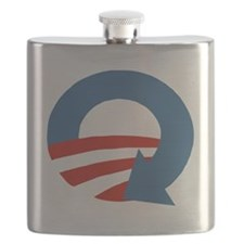 Obama_recycle Flask