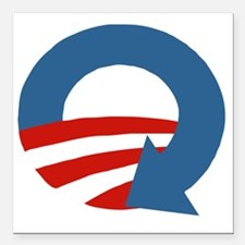 """Obama_recycle Square Car Magnet 3"""" x 3"""""""