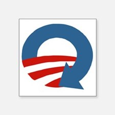 "Obama_recycle Square Sticker 3"" x 3"""