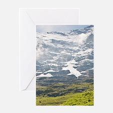 Switzerland. Alpine goats in Grindel Greeting Card