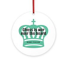 Fischer-War-Black Round Ornament