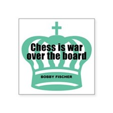 "Fischer-War-Black Square Sticker 3"" x 3"""