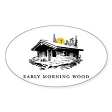 Early Morning Wood Oval Decal